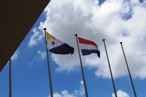 Die Flagge von Bonaire